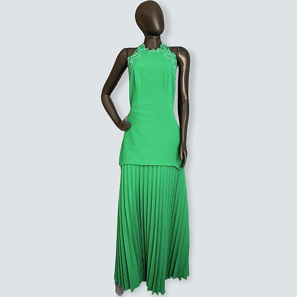 Vestido longo verde iorane - 42