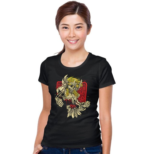 Camiseta Cavaleiros do Zodíaco – Skull Hyoga