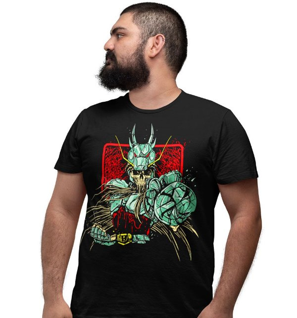 Camiseta Cavaleiros do Zodíaco – Skull Shyriu