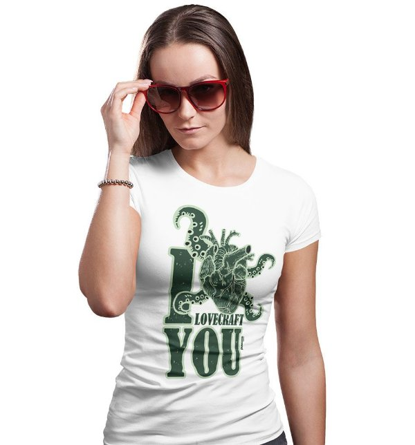 Camiseta Dungeon Geek – I Lovecraft You Branca