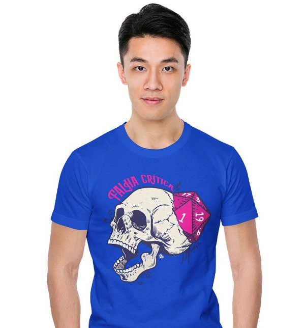 Camiseta Dungeon Geek – Falha Crítica Azul