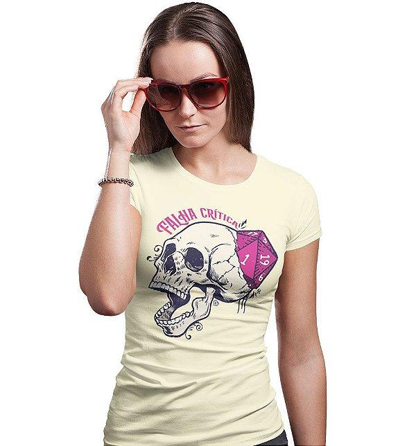 Camiseta Dungeon Geek – Falha Crítica Marfim