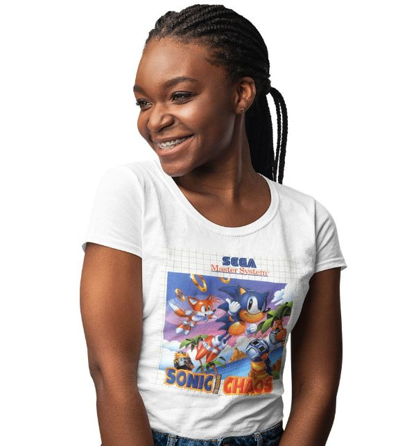 Camiseta Master System – Sonic