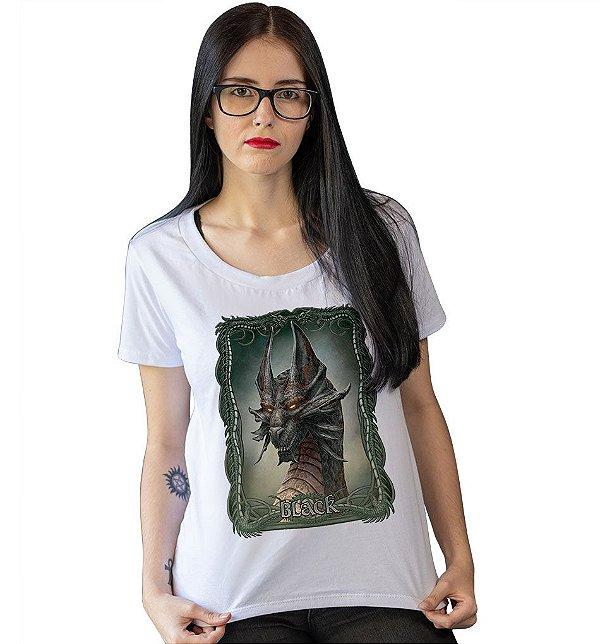 Camiseta Dungeons & Dragons - Dragão Cromático Negro
