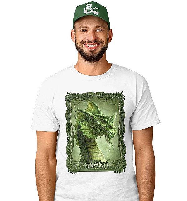 Camiseta Dungeons & Dragons - Dragão Cromático Verde