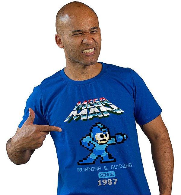 Camiseta Megaman - Running & Gunning