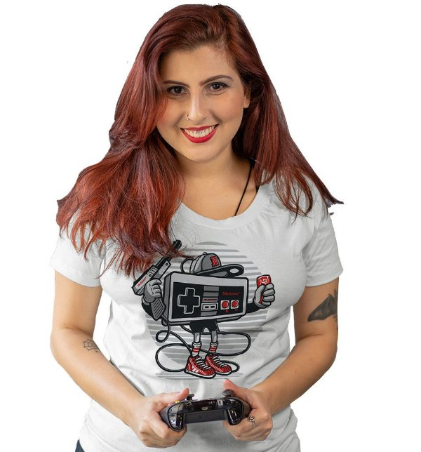 Camiseta Vamos Jogar Nintendo!