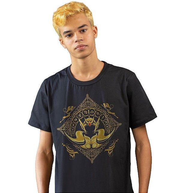 Camiseta Cavaleiros do Zodíaco - Armadura de Ouro de Áries