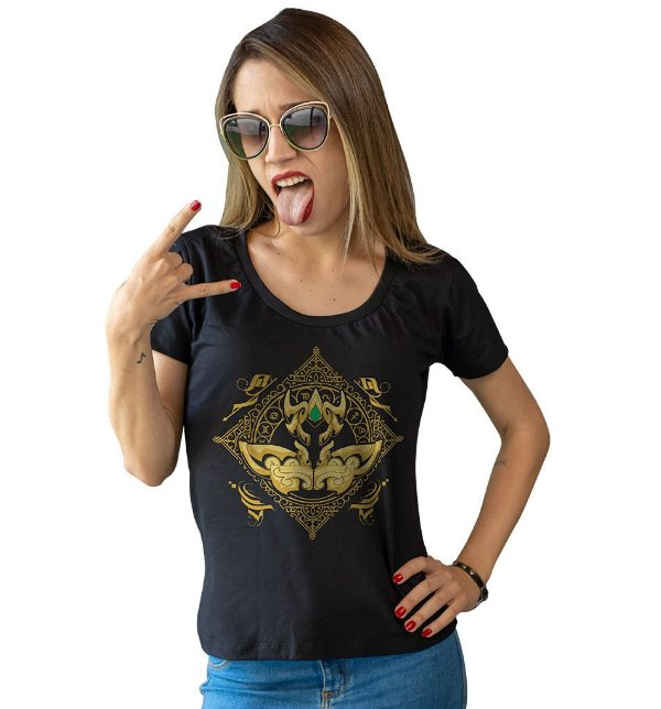 Camiseta Cavaleiros do Zodíaco - Armadura de Ouro de Leão