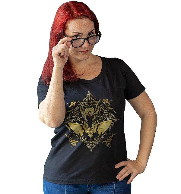 Camiseta Cavaleiros do Zodíaco - Armadura de Ouro de Virgem