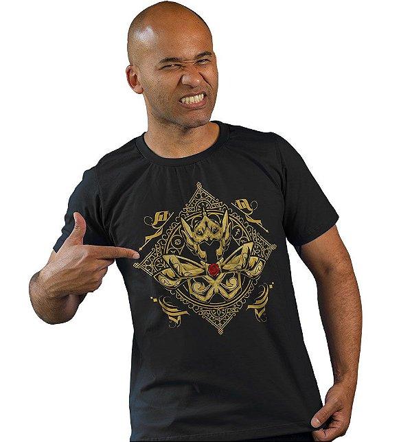 Camiseta Cavaleiros do Zodíaco - Armadura de Ouro de Peixes