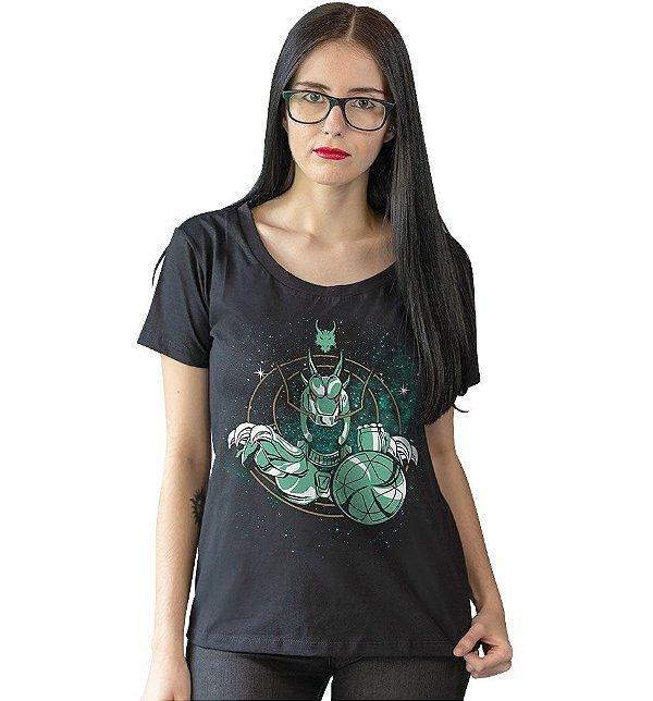 Camiseta Cavaleiros do Zodíaco - Armadura de Dragão