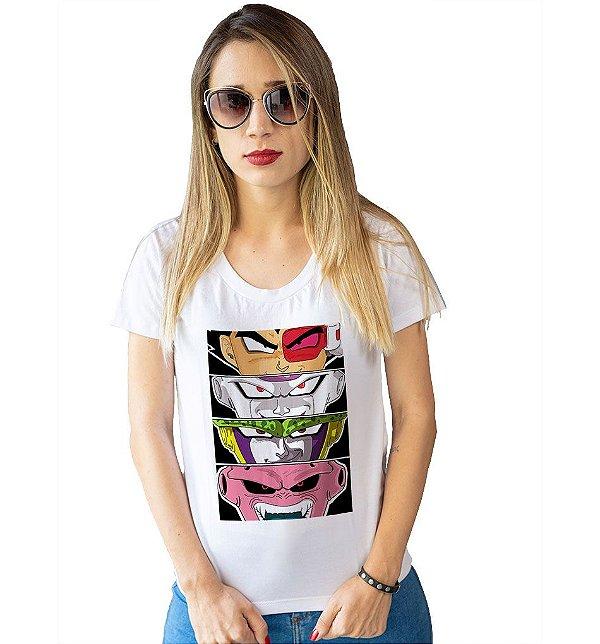 Camiseta Dragon Ball Z - Vilões
