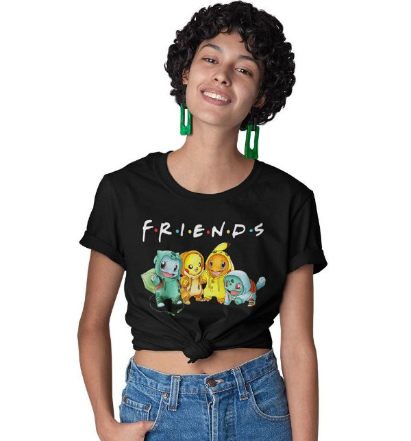 Camiseta Pokemon Friends