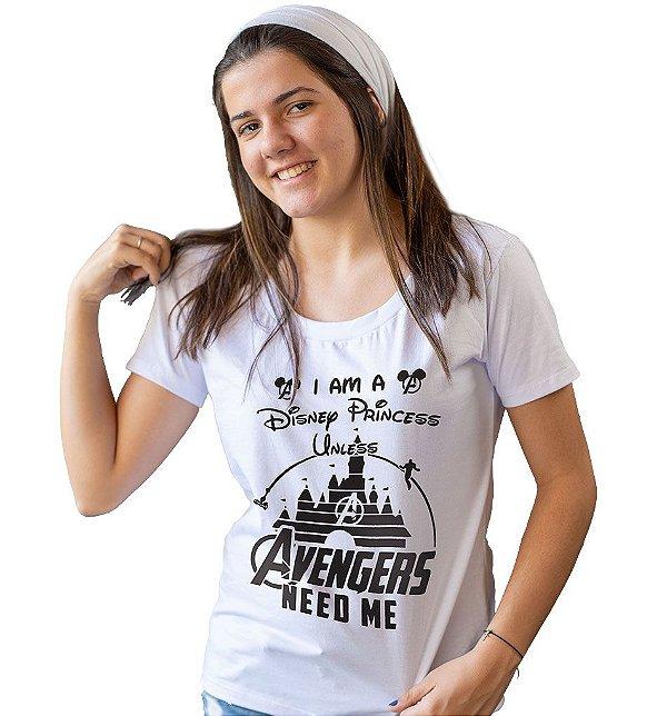 Camiseta Vingadores - Princesa Disney