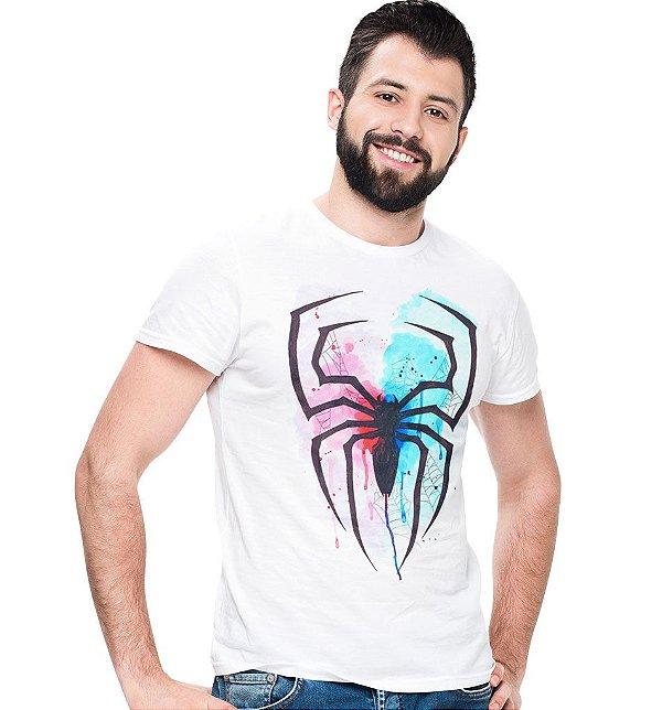 Camiseta Homem Aranha - Aquarela