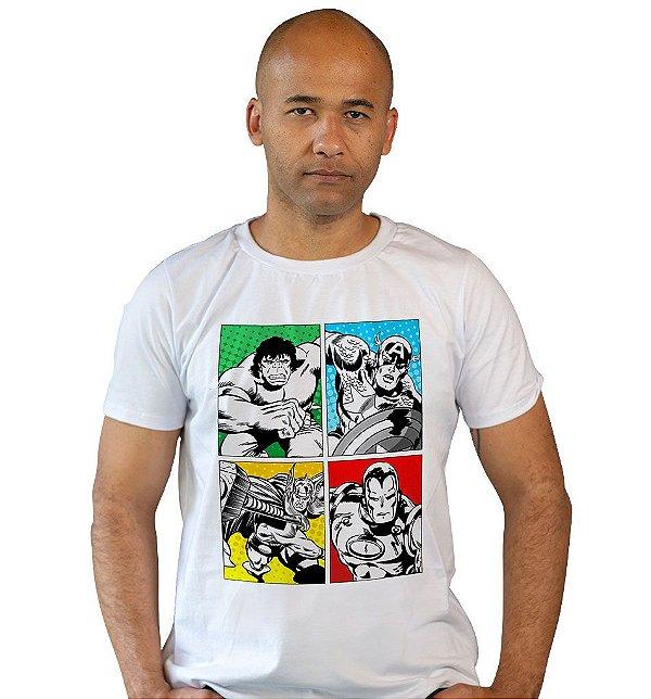 Camiseta Vingadores Vintage