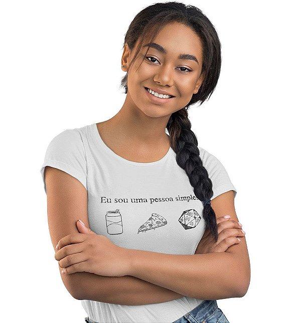 Camiseta D&D - Eu sou Uma Pessoa Simples