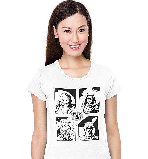 Camiseta Azecos - Rola o Dado Épica - Branca