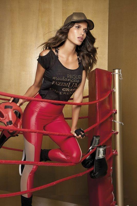 Calça Luxo Vermelha Rola Moça Glam