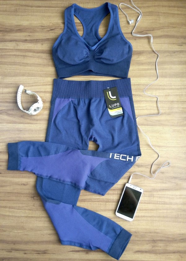 Conjunto Top Tech Fit e Calça Tech Fit Lupo Sport