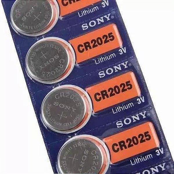 5 Baterias Pilha Sony Cr 2025 Bateria Original Relogio
