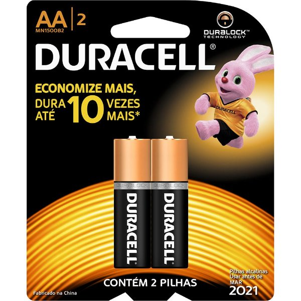 Pilha Alcalina AA c/ 2unid. - Duracell