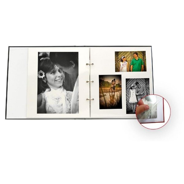 Folhas para Álbum Autocolante Pacote com 10 Folhas