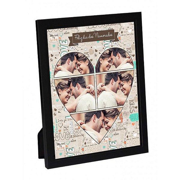 Quadro   personalizado dia dos namorados 20x25 de madeira com vidro