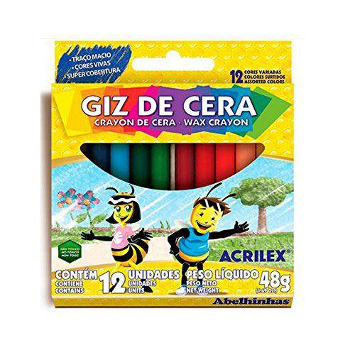 GIZ DE CERA C/12 CORES 09012  ACRILEX