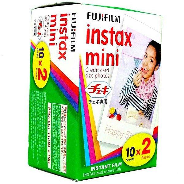 1 Filmes Instantâneos Instax Mini - Fujifilm 20 fotos