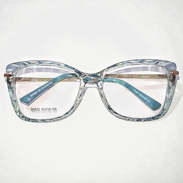 Óculos de Grau Feminino Azul  - Armação de Óculos Feminina | Ótica Online