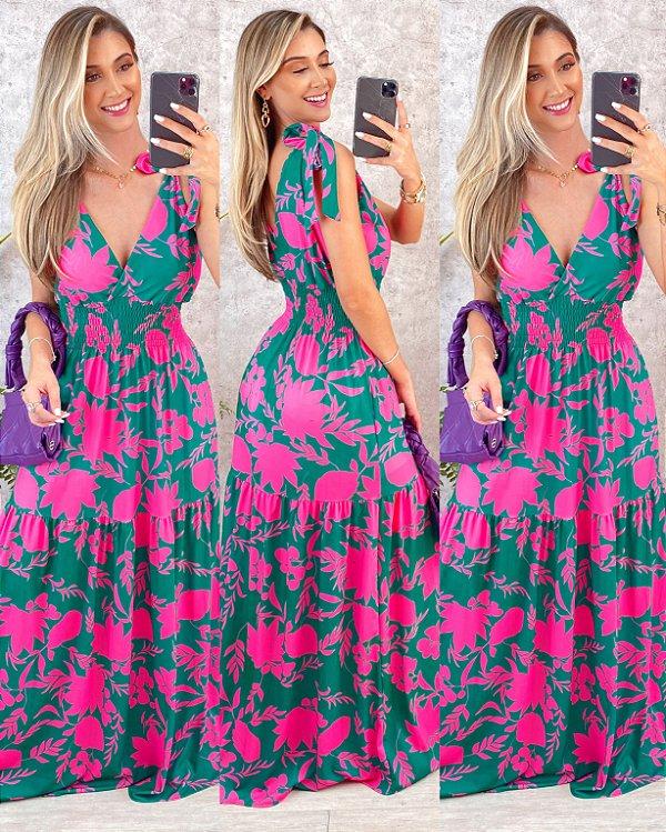 Vestido Palm Flower 005