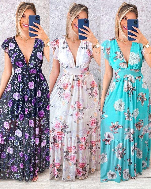 Vestido Floral Tule
