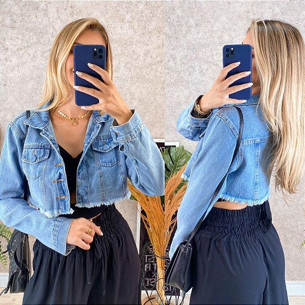 Jaqueta Curta Jeans