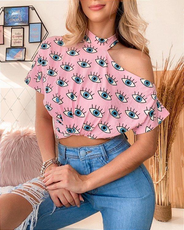 T-Shirt Ombro Nú