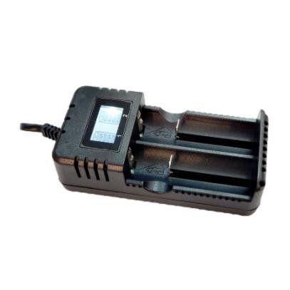 Carregador para 2 Baterias COM VISOR (Modelo 26650-18650-14500)