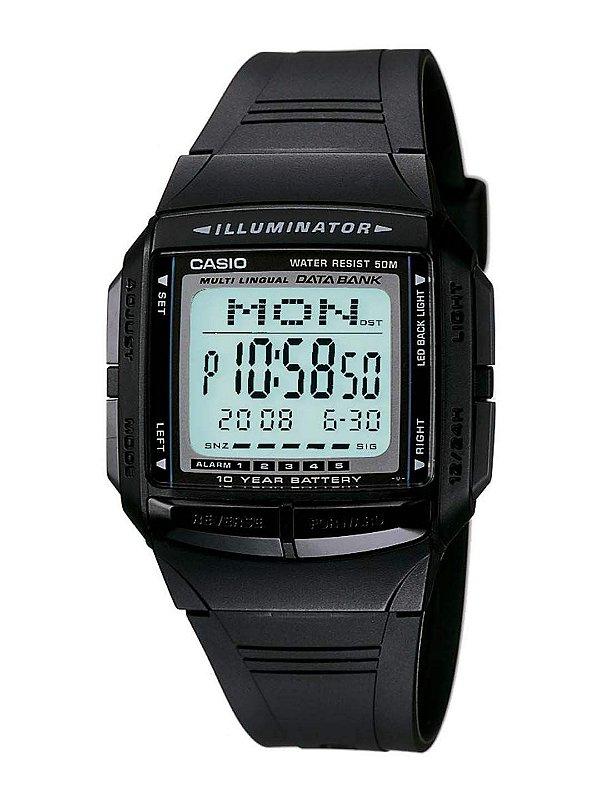 Relógio Casio Masculino Data Bank DB-36-1AVDF