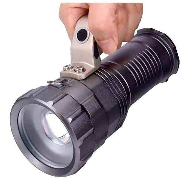 Holofote c/ Alça Lanterna Led Recarregável 3 Baterias CREE T6 HZ-03-2019