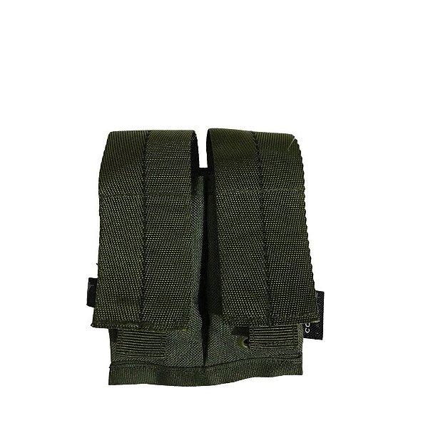 Porta Carregador de Pistola Duplo Militar Stock