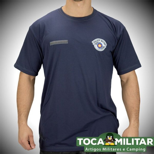 Camiseta cinza Policia Militar SP