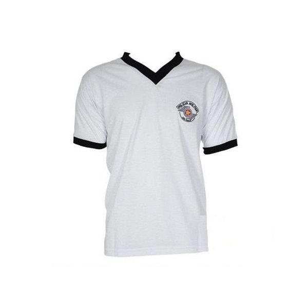 Camiseta Branca Gola V Polícia Militar (TFM)