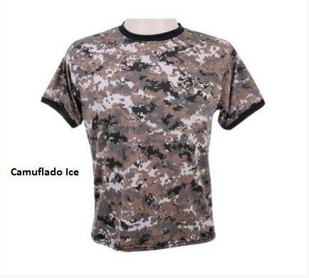 Camiseta Camuflada Digital Ice