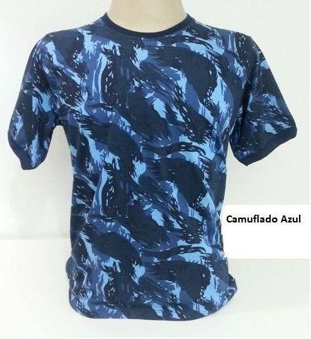 Camiseta Camuflada Azul