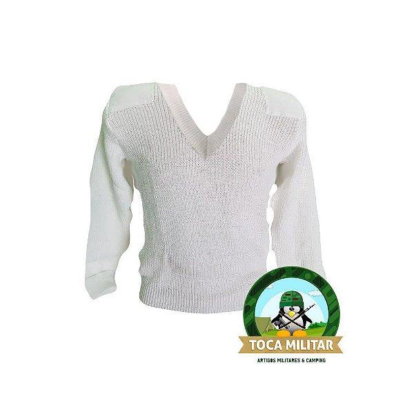Suéter Branco Padrão Exército Brasileiro