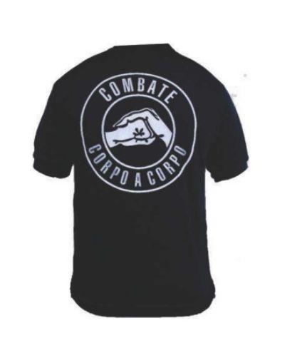 Camiseta Estampada Combate Corpo a Corpo (Preta)