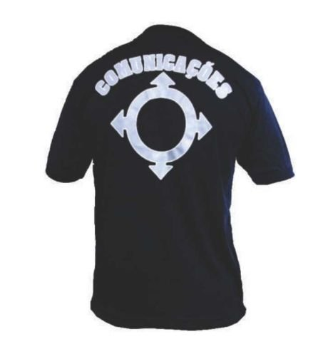 Camiseta Estampada Comunicações (Preta)