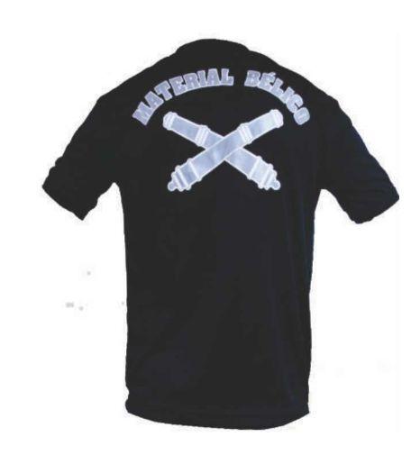 Camiseta Estampada Material Bélico (Preta)