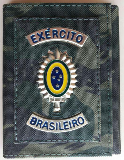 Carteira Camuflada Exército Brasileiro (Brasão de Metal)