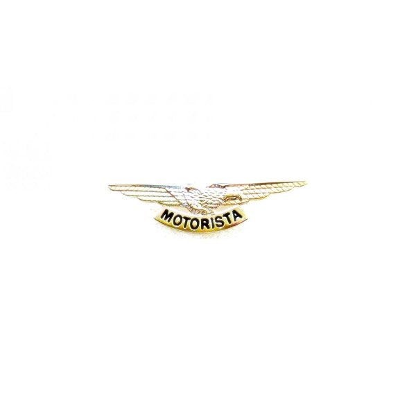 Brevê (Distintivo) de Metal Motorista Dourado